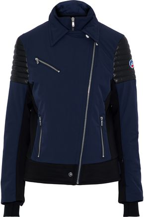FUSALP Bonneval leather-trimmed shell ski jacket