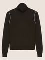 ARMANI EXCHANGE CONTRAST PIPING WOOL-BLEND TURTLENECK Turtleneck Woman r
