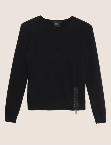 ZIP-HEM WOOL-BLEND SWEATER