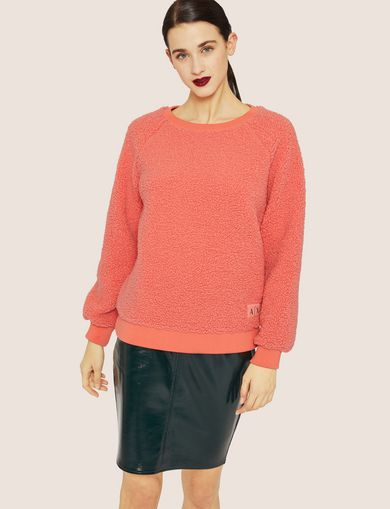 FAUX SHERPA SWEATSHIRT TOP