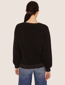 ARMANI EXCHANGE FAUX SHERPA SWEATSHIRT TOP Sweatshirt [*** pickupInStoreShipping_info ***] e