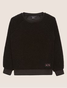 ARMANI EXCHANGE FAUX SHERPA SWEATSHIRT TOP Sweatshirt [*** pickupInStoreShipping_info ***] r