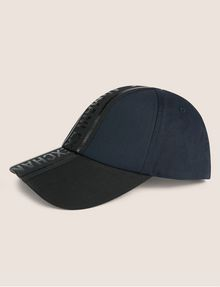 ARMANI EXCHANGE HIGH-SHINE LOGO TAPE HAT Hat [*** pickupInStoreShippingNotGuaranteed_info ***] f