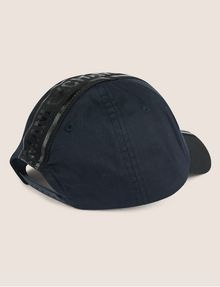 ARMANI EXCHANGE HIGH-SHINE LOGO TAPE HAT Hat [*** pickupInStoreShippingNotGuaranteed_info ***] r