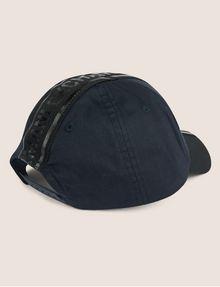 ARMANI EXCHANGE HIGH-SHINE LOGO TAPE HAT Hat Man r