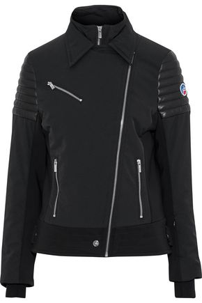 FUSALP Two-tone quilted leather-trimmed shell jacket