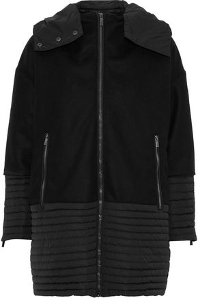 FUSALP Alba shell-paneled wool and cashmere-blend hooded down jacket
