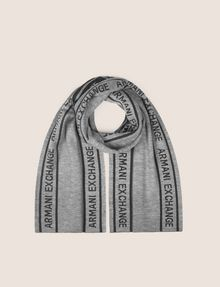 ARMANI EXCHANGE LOGO-KNIT RECTANGULAR SCARF Scarf [*** pickupInStoreShippingNotGuaranteed_info ***] f