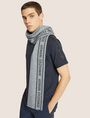 ARMANI EXCHANGE LOGO-KNIT RECTANGULAR SCARF Scarf [*** pickupInStoreShippingNotGuaranteed_info ***] r