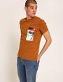 ARMANI EXCHANGE SLIM-FIT METALLIC EAGLE BOX CREW Graphic T-shirt Man f