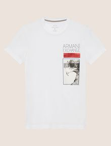 ARMANI EXCHANGE SCHMAL GESCHNITTENES RUNDHALS-T-SHIRT MIT ADLER IN METALLIC-OPTIK T-Shirt mit Grafik [*** pickupInStoreShippingNotGuaranteed_info ***] r