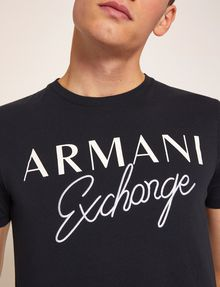 ARMANI EXCHANGE T-SHIRT GIROCOLLO SLIM FIT CON SCRITTA RICAMATA T-shirt con logo [*** pickupInStoreShippingNotGuaranteed_info ***] b