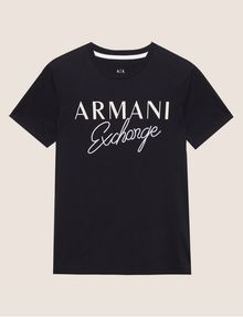 ARMANI EXCHANGE T-SHIRT GIROCOLLO SLIM FIT CON SCRITTA RICAMATA T-shirt con logo [*** pickupInStoreShippingNotGuaranteed_info ***] r