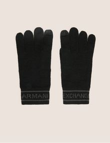 ARMANI EXCHANGE LOGO-KNIT GLOVES Glove [*** pickupInStoreShippingNotGuaranteed_info ***] f
