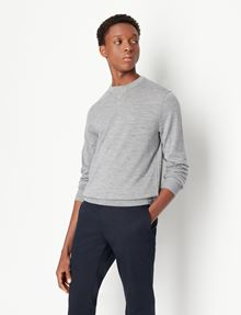 ARMANI EXCHANGE CLASSIC WOOL LAYERING SWEATER Crew Neck Man f
