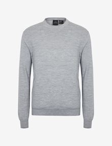 ARMANI EXCHANGE CLASSIC WOOL LAYERING SWEATER Crew Neck Man r