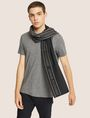 ARMANI EXCHANGE LOGO-KNIT RECTANGULAR SCARF Scarf Man r