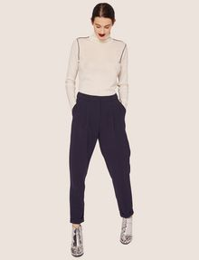 ARMANI EXCHANGE CONTRAST PIPING WOOL-BLEND TURTLENECK Crew Neck Woman d