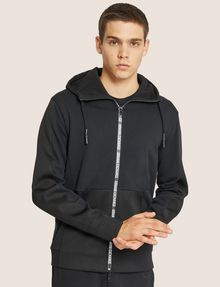 ARMANI EXCHANGE HOODED MESH WARM-UP JACKET Sweatshirt [*** pickupInStoreShippingNotGuaranteed_info ***] f