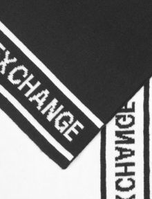 ARMANI EXCHANGE RECHTECKIGER STRICKSCHAL MIT LOGO Schal [*** pickupInStoreShippingNotGuaranteed_info ***] e