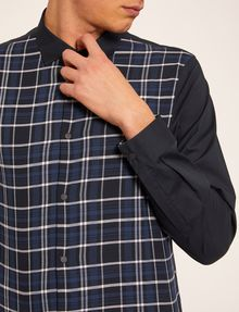 ARMANI EXCHANGE REGULAR FIT PATTERN BLOCKED STRETCH SHIRT Checked Shirt Man b