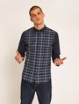 ARMANI EXCHANGE REGULAR FIT PATTERN BLOCKED STRETCH SHIRT Checked Shirt Man f