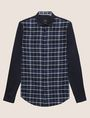 ARMANI EXCHANGE REGULAR FIT PATTERN BLOCKED STRETCH SHIRT Checked Shirt Man r