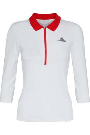 ADIDAS by STELLA McCARTNEY Barricade printed stretch polo shirt