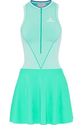 ADIDAS by STELLA McCARTNEY Mesh-paneled stretch tennis dress