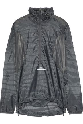 ADIDAS by STELLA McCARTNEY Mesh-paneled printed shell jacket