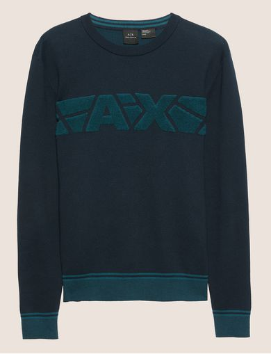RETRO TEXTURED LOGO BAND SWEATER