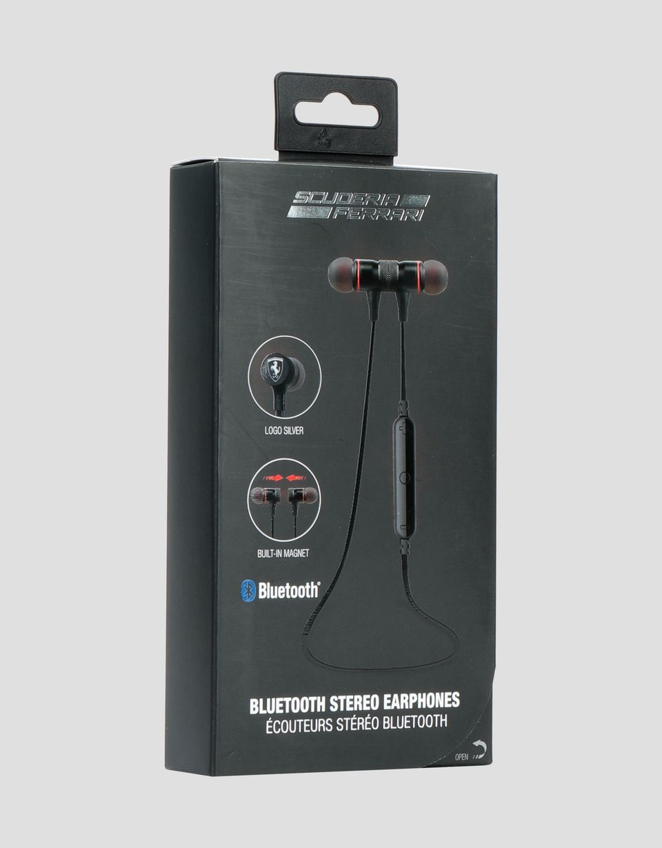 Scuderia Ferrari Online Store - Black bluetooth earbuds - Headphones