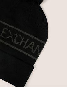 ARMANI EXCHANGE LOGO-KNIT POMPOM BEANIE Hat [*** pickupInStoreShippingNotGuaranteed_info ***] d