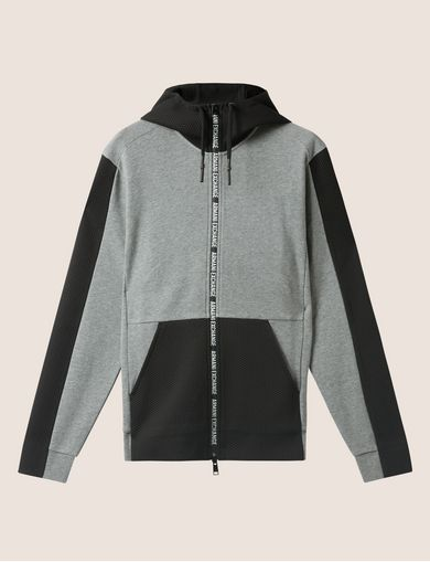 HOODED MESH WARM-UP JACKET