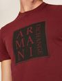 ARMANI EXCHANGE SLIM-FIT BOXED & STACKED LOGO CREW Logo T-shirt Man b