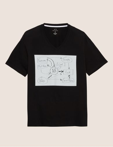 WHITEBOARD SKETCH SLIM LOGO TEE