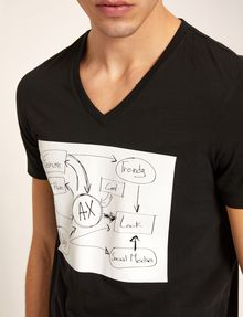 ARMANI EXCHANGE WHITEBOARD SKETCH SLIM LOGO TEE Graphic T-shirt [*** pickupInStoreShippingNotGuaranteed_info ***] b