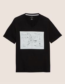ARMANI EXCHANGE WHITEBOARD SKETCH SLIM LOGO TEE Graphic T-shirt [*** pickupInStoreShippingNotGuaranteed_info ***] r