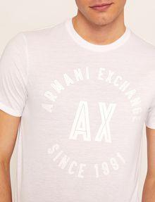 ARMANI EXCHANGE SLIM-FIT 1991 LOGO ARC CREW Logo T-shirt Man b