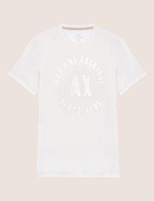 ARMANI EXCHANGE SLIM-FIT 1991 LOGO ARC CREW Logo T-shirt Man r