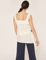 ARMANI EXCHANGE BICOLOR ASYMMETRICAL RUFFLE TANK S/S Knit Top Woman e
