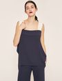 ARMANI EXCHANGE BICOLOR ASYMMETRICAL RUFFLE TANK S/S Knit Top Woman f