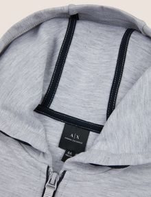 ARMANI EXCHANGE BOYS CIRCLE LOGO ZIP-UP HOODIE Hoodie Man d