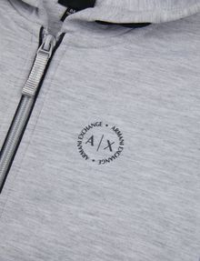 ARMANI EXCHANGE BOYS CIRCLE LOGO ZIP-UP HOODIE Hoodie Man e