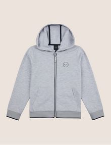 ARMANI EXCHANGE BOYS CIRCLE LOGO ZIP-UP HOODIE Hoodie Man f