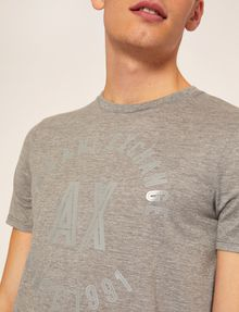 ARMANI EXCHANGE SLIM-FIT 1991 LOGO ARC CREW Logo T-shirt [*** pickupInStoreShippingNotGuaranteed_info ***] b