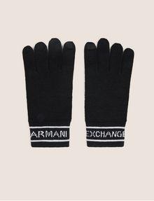ARMANI EXCHANGE LOGO-KNIT GLOVES Glove [*** pickupInStoreShippingNotGuaranteed_info ***] f