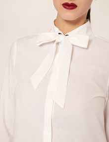 ARMANI EXCHANGE FLARED CUFF PUSSYCAT BOW BLOUSE L/S Knit Top Woman b