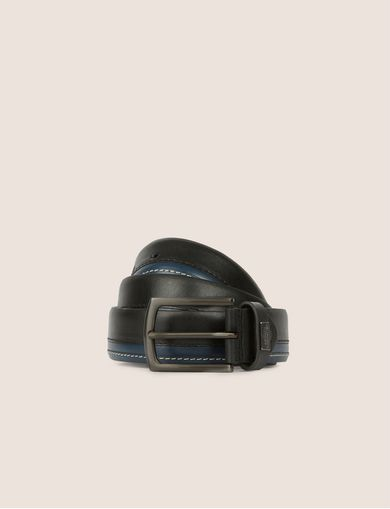 BICOLOR STITCHED BELT