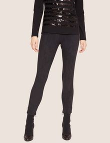 ARMANI EXCHANGE FAUX-SUEDE SEAMED LEGGINGS Legging Woman f